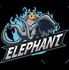Esports Dota 2 Team Elephant-White BG